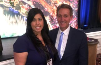 COO Christine Hanna with U.S. Senator - Jeff Flake